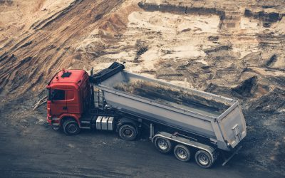 Construction Site Dump Truck